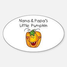 Nana and Papa's Pumpkin Oval Decal