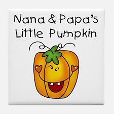 Nana and Papa's Pumpkin Tile Coaster