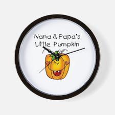 Nana and Papa's Pumpkin Wall Clock