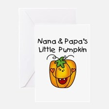 Nana and Papa's Pumpkin Greeting Card