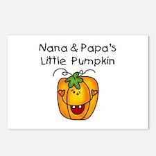 Nana and Papa's Pumpkin Postcards (Package of 8)