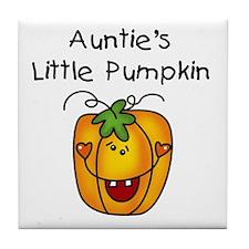 Auntie's Little Pumpkin Tile Coaster
