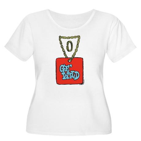 Preciooous Women's Plus Size Scoop Neck T-Shirt
