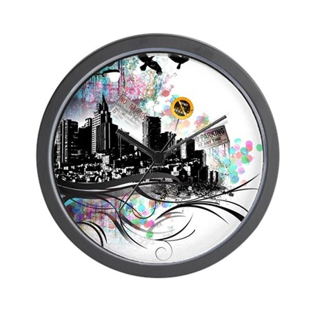 City Grunge Wall Clock