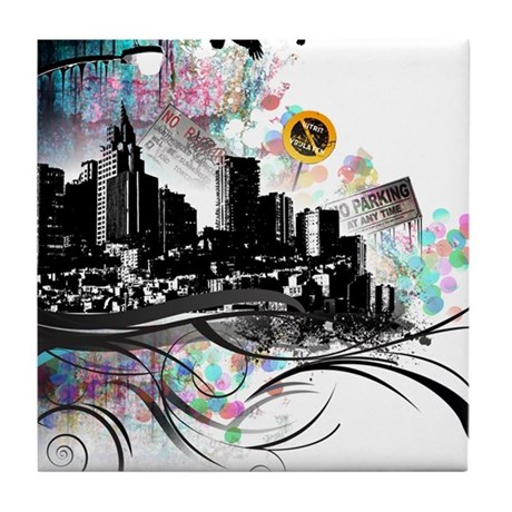 City Grunge Tile Coaster