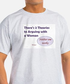 Arguing With A Woman Light Colored T-Shirt