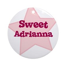 Sweet Adrianna Ornament (Round)