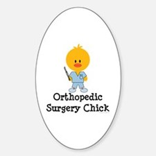 Orthopedic Surgery Chick Oval Decal