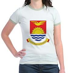 Kiribati Coat Of Arms Jr. Ringer T-Shirt