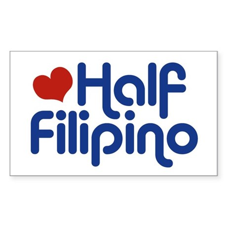 Half Filipino Rectangle Sticker