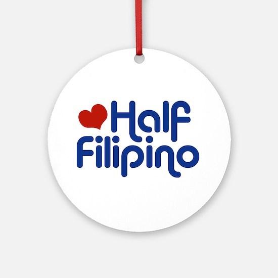 Half Filipino Ornament (Round)