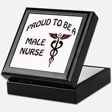 Cool Male nursing school graduate Keepsake Box