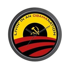 Livin' in an Obamanation Wall Clock