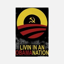 Livin' in an Obamanation Rectangle Magnet