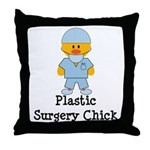 Plastic Surgery Chick Throw Pillow
