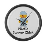 Plastic Surgery Chick Large Wall Clock