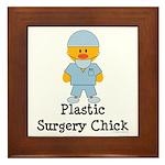 Plastic Surgery Chick Framed Tile