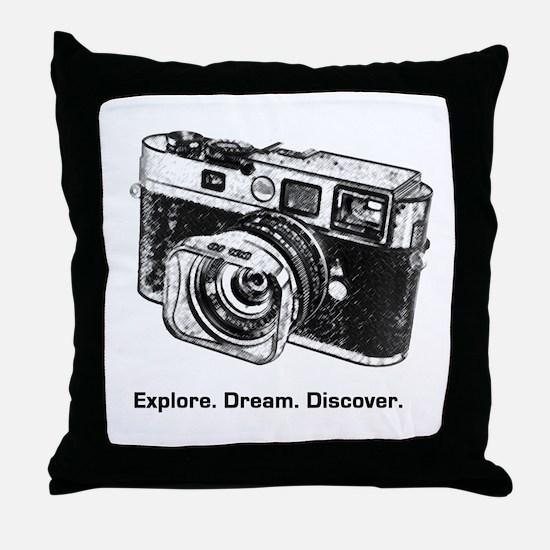 Cool Camera Throw Pillow