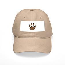 Mountain Lion Cougar Track Pawprint Baseball Cap