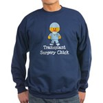Transplant Surgery Chick Sweatshirt (dark)