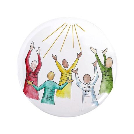 """Gospel 3.5"""" Button (100 pack)"""