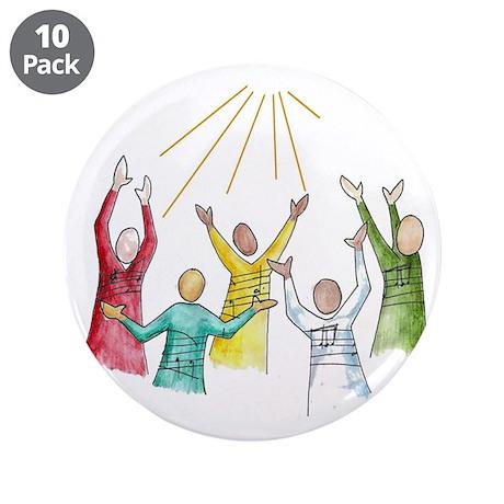 """Gospel 3.5"""" Button (10 pack)"""