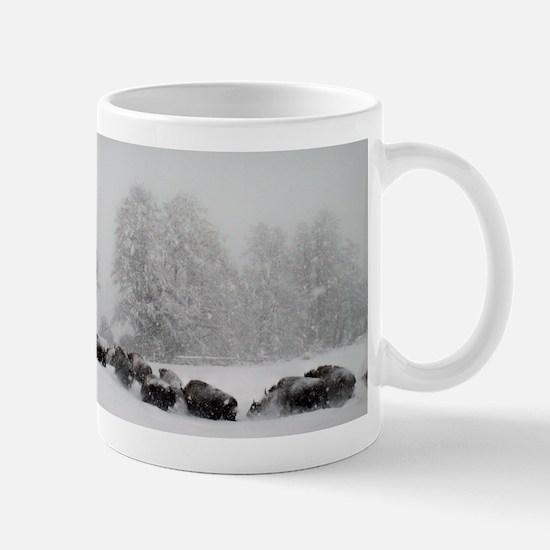 Winter Buffalo Run Mug