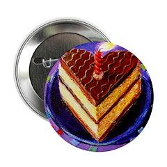 "Birthday Cake with Confetti 2.25"" Button"
