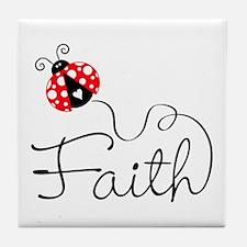 Ladybug Faith Tile Coaster