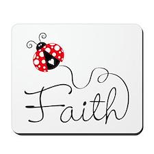 Ladybug Faith Mousepad
