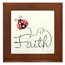 Ladybug Faith Framed Tile