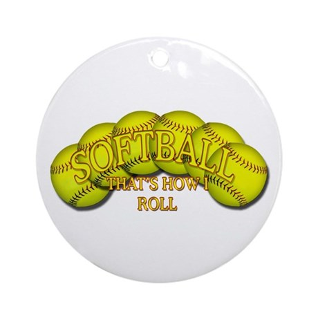 Softballs roll Ornament (Round)