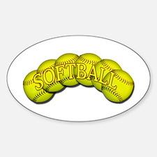 Softballs Oval Decal