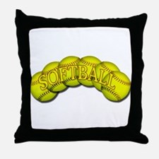 Softballs Throw Pillow