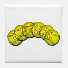 Softballs Tile Coaster