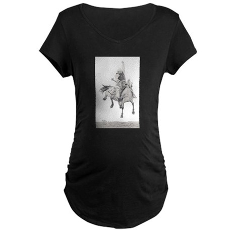 Saddle Bronc Maternity Dark T-Shirt