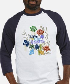 Save the Oceans Baseball Jersey