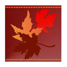 Three Leaves Tile Coaster