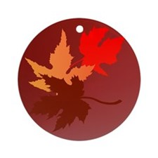 Three Leaves Ornament (Round)