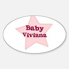 Baby Viviana Oval Decal