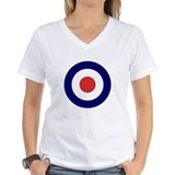 Bullseye Womens V-Neck T-shirts