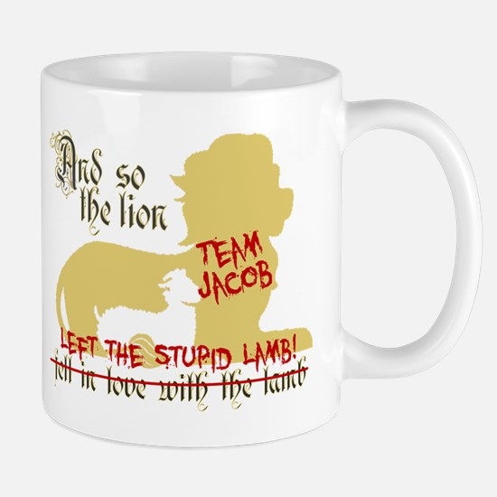 Lion left stupid lamb Mug
