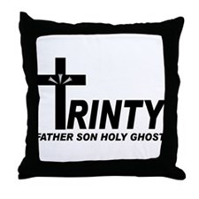 Unique Trinity Throw Pillow