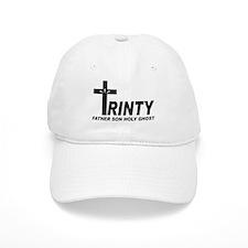 White Trinity Christian Base Ball Baseball Cap