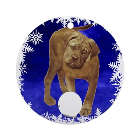 bull mastiff holiday Ornament (Round)