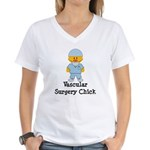 Vascular Surgery Chick Women's V-Neck T-Shirt