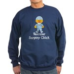 Vascular Surgery Chick Sweatshirt (dark)