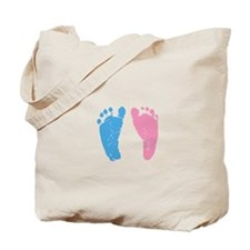 Unique Blue and pink feet Tote Bag