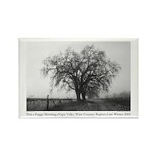 Black + White Tree Photograph Rectangle Magnet