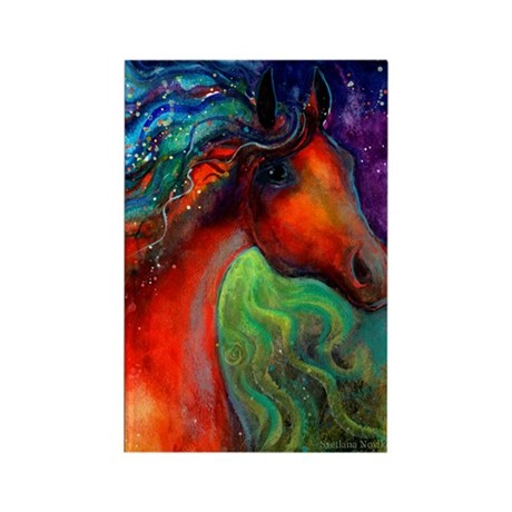 Arabian horse 7 Rectangle Magnet (10 pack)